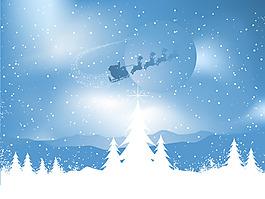 雪地雪橇背景