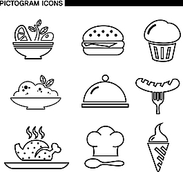 線框食物素材