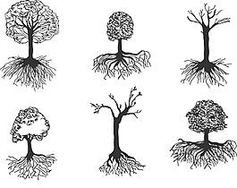 手繪素描樹木