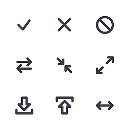 箭头简洁矢量icon