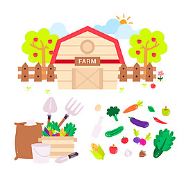 22款創意農場元素矢量素材