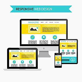 响应网页设计免费矢量