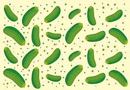 手繪黃瓜蔬菜背景
