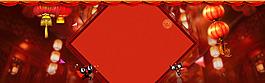 紅色燈籠新春背景海報