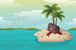 神奇的寶藏小島背景