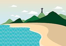 矢量沙灘插畫