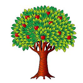 卡通蘋果樹