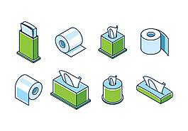 矢量衛生紙巾素材