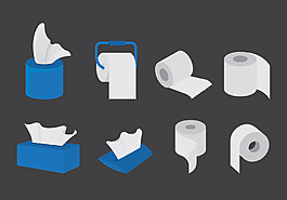 矢量紙巾素材