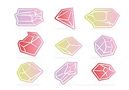 寶石珠寶圖案素材