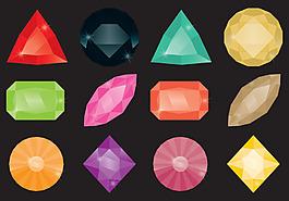 矢量珠寶鉆石