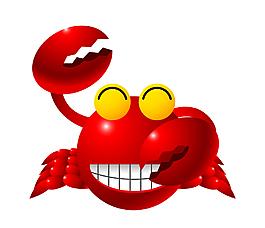 矢量卡通紅色小龍蝦EPS
