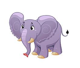 矢量森林之王大象EPS