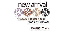 秋冬新款字體排版設計