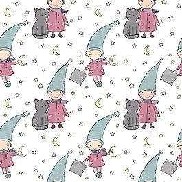 儿童和小猫