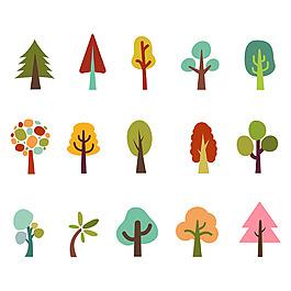 各種樹插圖集合