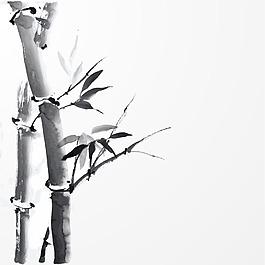 手繪竹子背景
