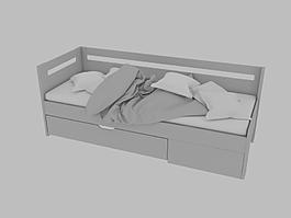 單人床3d上傳