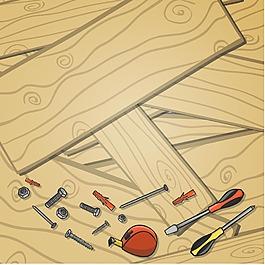 木板紋理工具背景