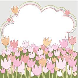 手繪粉色花朵背景