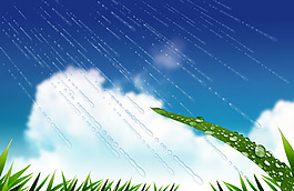 夏季雨清凉背景