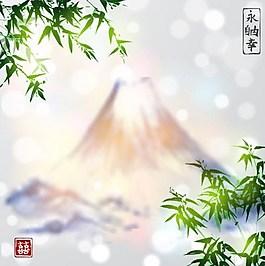 火山竹子背景