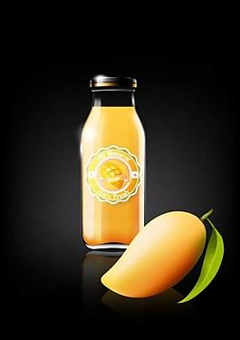 芒果汁背景素材