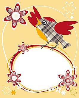 手繪花鳥背景