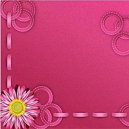 手繪粉色花朵圈圈背景