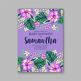 紫色花朵背景圖片