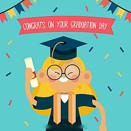 快樂學生畢業慶祝背景