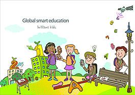 矢量全球教育素材