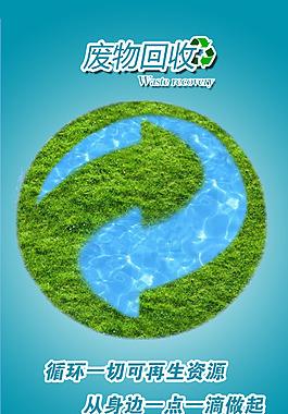 回收利用循环海报