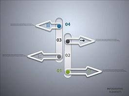 箭頭圖表背景素材