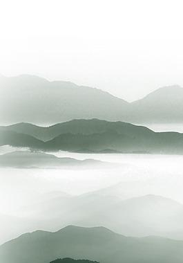 水墨山畫背景
