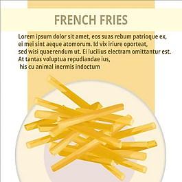 薯條背景素材