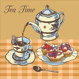 茶背景素材