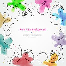 水彩畫效果果汁背景