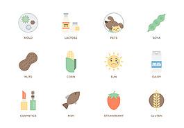 扁平化手繪食物圖標