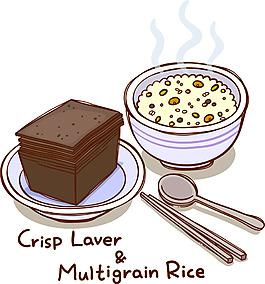 矢量米飯食物素材