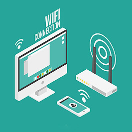 電腦手機網絡設備Wifi背景設計