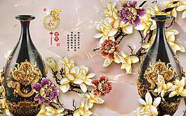 玉蘭花花瓶圖片