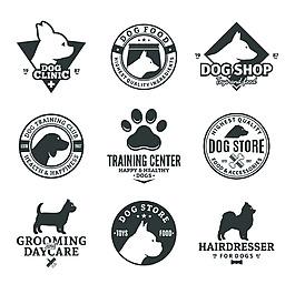 狗狗卡通矢量宠物图标合集