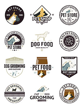 动物卡通矢量宠物图标合集