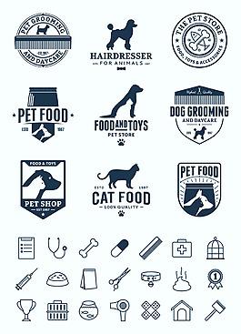 卡通矢量宠物图标合集