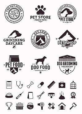 宠物卡通矢量宠物图标合集