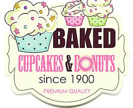 可愛卡通手繪風格插畫甜品店圖標素材