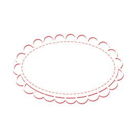 简约粉色镂空花边元素