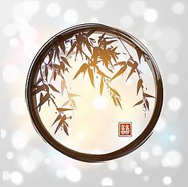 藝術水墨竹子