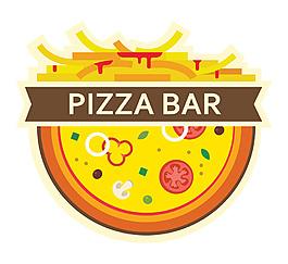 薯條披薩商標